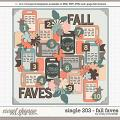 Cindy's Layered Templates - Single 203: Fall Faves by Cindy Schneider