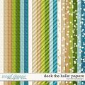 Deck the Halls: Papers by River Rose Designs