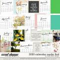 2020 Calendar 6x4 Cards by Studio Basic