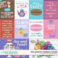 Tea Party Cuties Cards by Clever Monkey Graphics