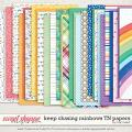 Keep Chasing Rainbows Traveler's Notebook Papers by Traci Reed