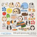Little Pets Guinea Pig Stickers by lliella designs