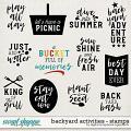 Backyard Activities | Stamps by Digital Scrapbook Ingredients