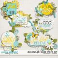 Blessings: Faith Word Art by Meagan's Creations