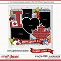 Cindy's Layered Templates - Single 213 - O Canada by Cindy Schneider