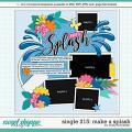 Cindy's Layered Templates - Single 215: Make a Splash by Cindy Schneider