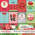 Must Love Watermelon Cards by Clever Monkey Graphics