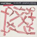 CU Mix 88 - Gingham ribbons by WendyP Designs