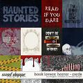Book Lovers: Horror Cards by Meagan's Creations & WendyP Designs