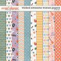 Wicked Awesome Women Papers by LJS Designs