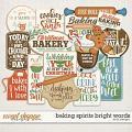 Baking Spirits Bright Words by LJS Designs