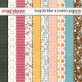 Fragile Like A Bomb Papers by LJS Designs