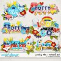 Potty Star Word Art by Meagan's Creations