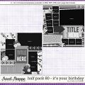 Cindy Layered Templates - Half Pack 80: It's Your Birthday by Cindy Schneider