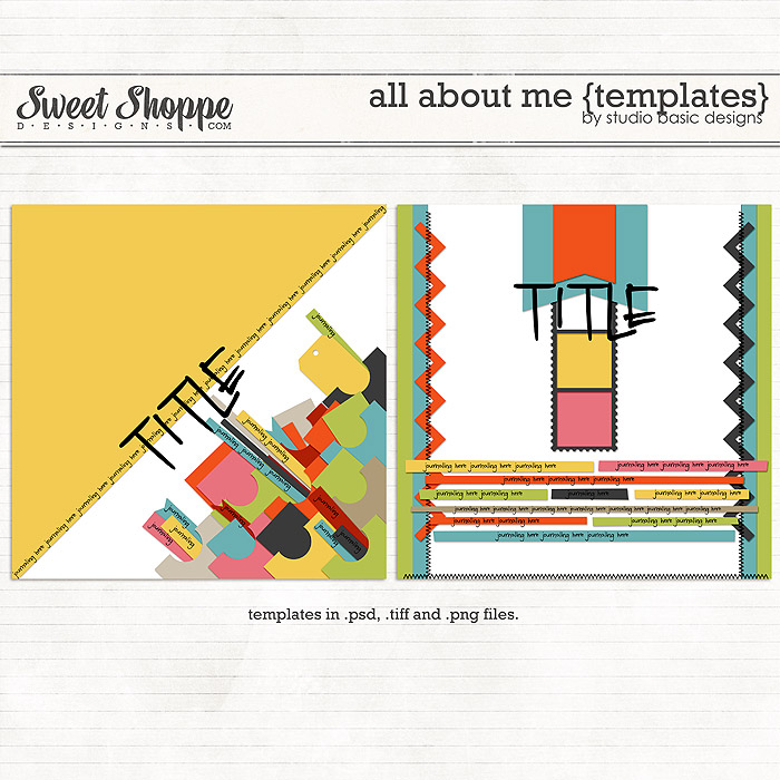 All About Me {templates} by Studio Basic