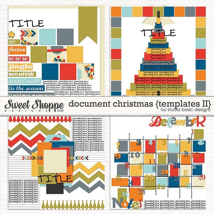 Document Christmas {templates #2} by Studio Basic