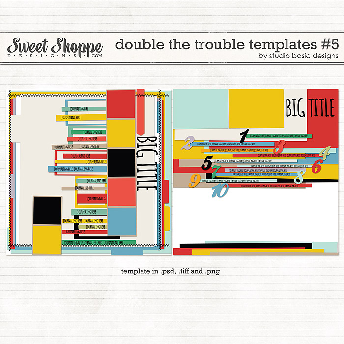 Double The Trouble Templates #5 by Studio Basic