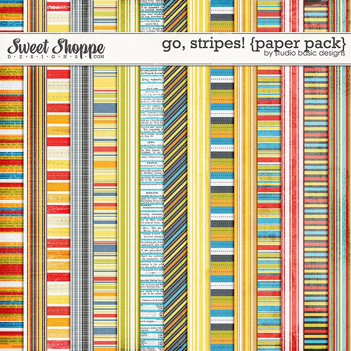 Go, Stripes! {paper pack} by Studio Basic
