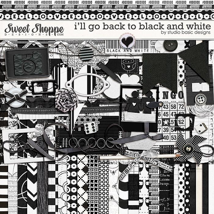 I'll Go Back To Black And White {kit} by Studio Basic