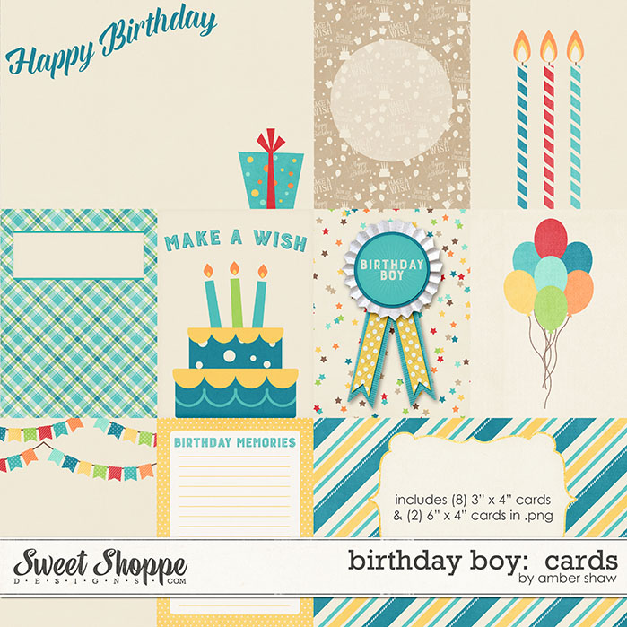Birthday Boy Cards by Amber Shaw