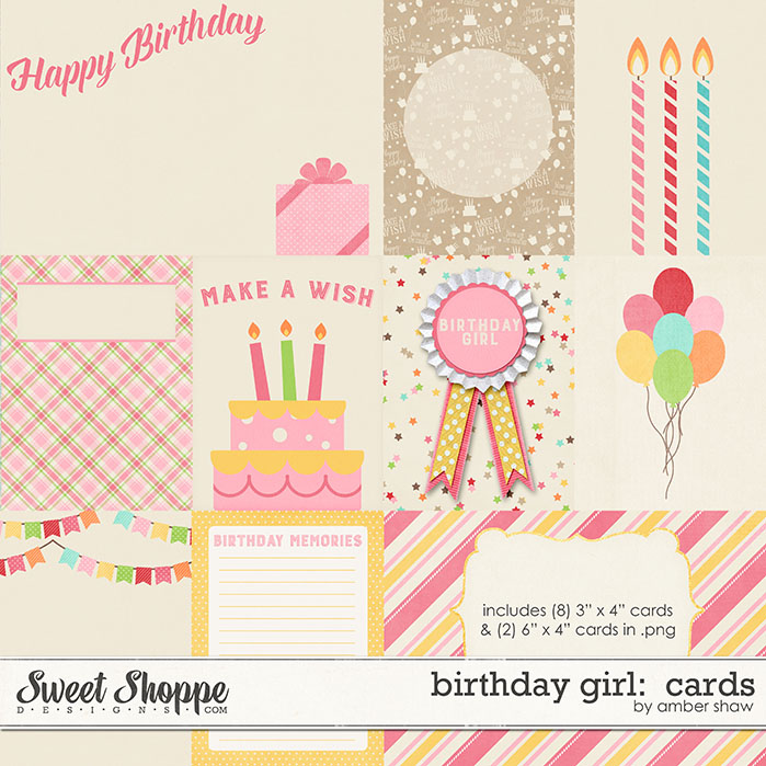 Birthay Girl Cards by Amber Shaw