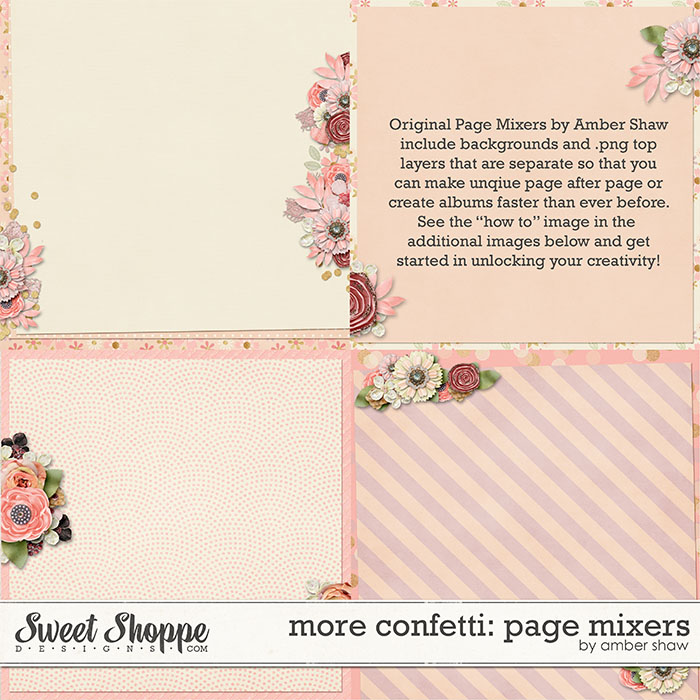 More Confetti:  Page Mixers by Amber Shaw