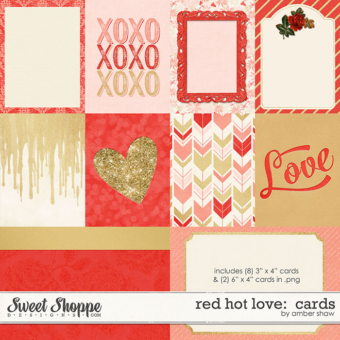 Red Hot Love Cards by Amber Shaw