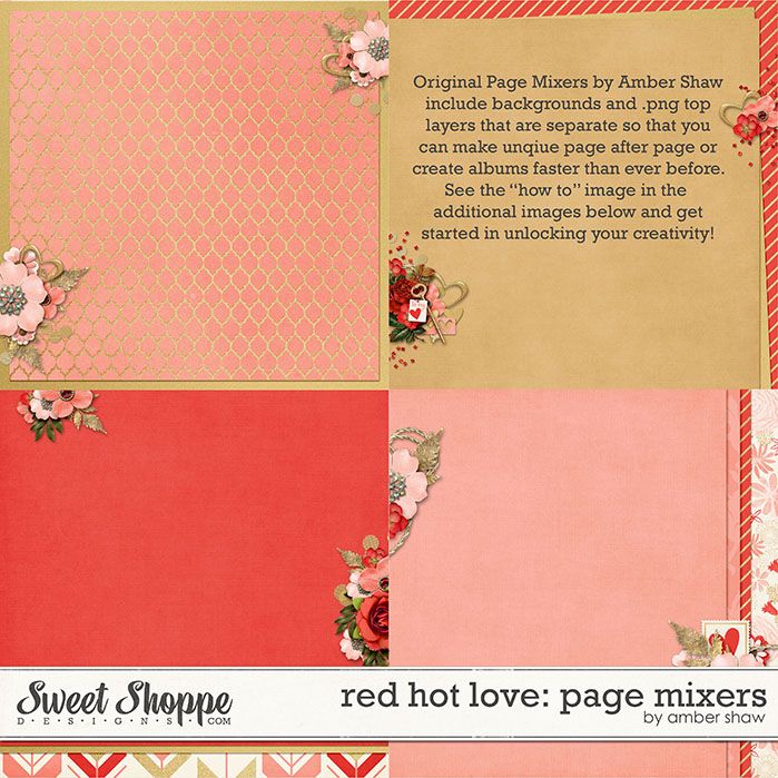 Red Hot Love Page Mixers by Amber Shaw