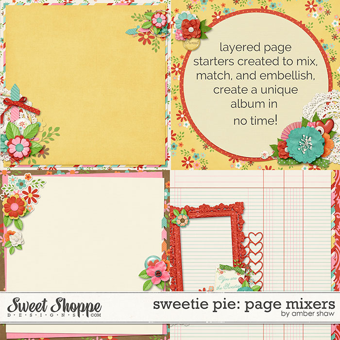Sweetie Pie Page Mixers by Amber Shaw