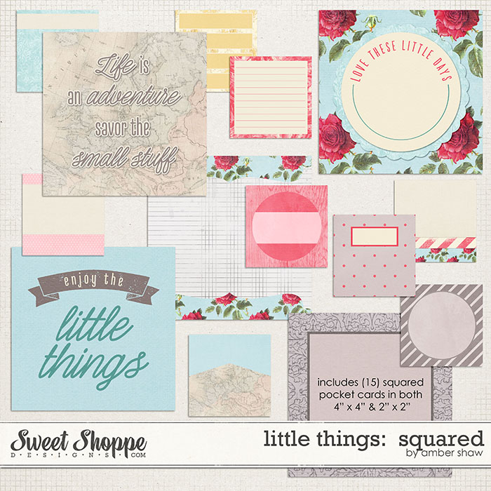 Little Things Squared Cards by Amber Shaw