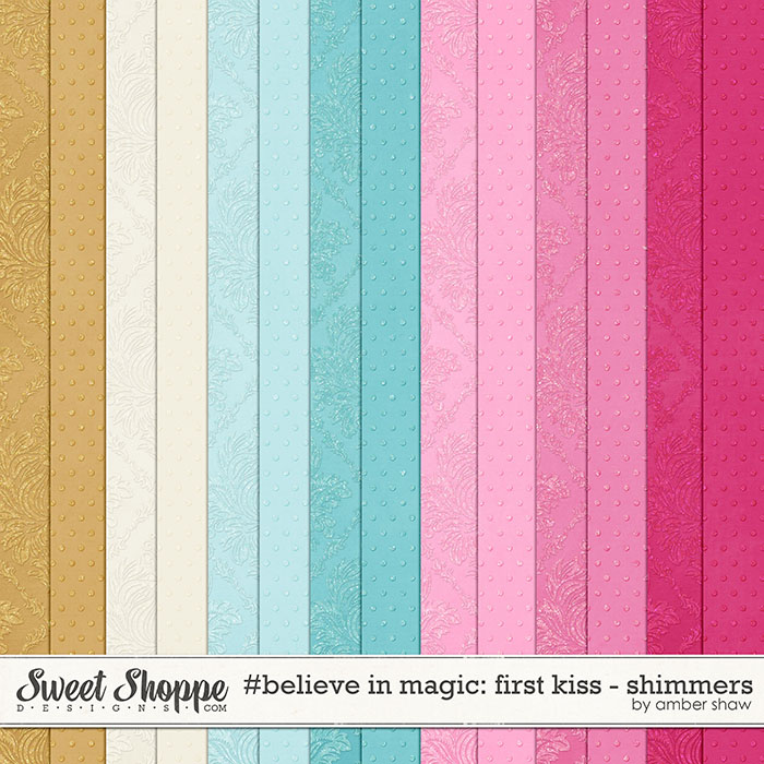 #believeinmagic:  First Kiss Shimmer Sheets by Amber Shaw