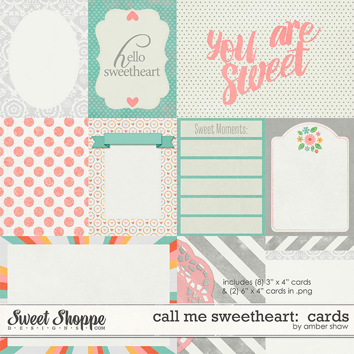 Call Me Sweetheart: Cards by Amber Shaw