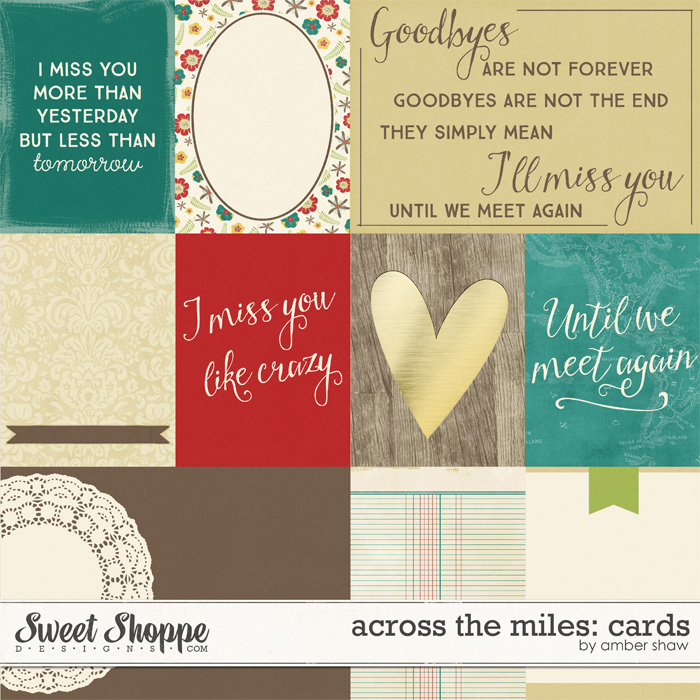 Across the Miles Cards by Amber Shaw