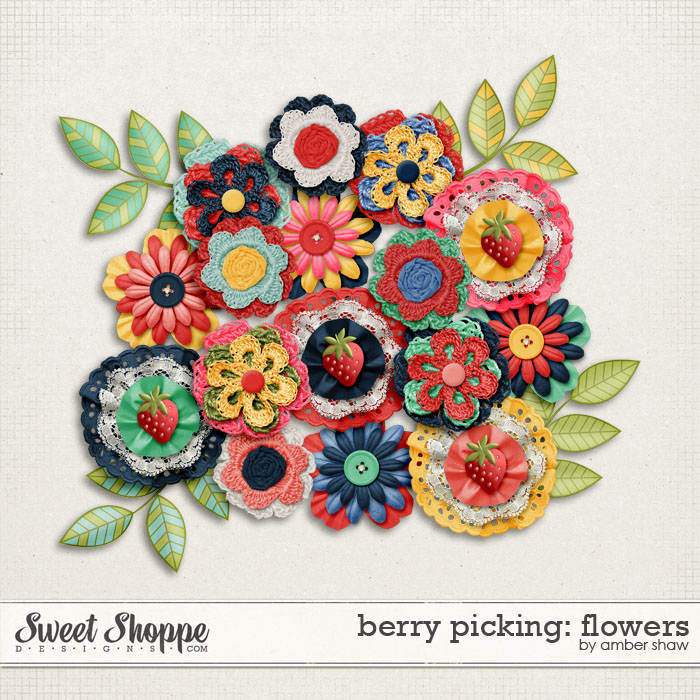 Berry Picking Flowers by Amber Shaw