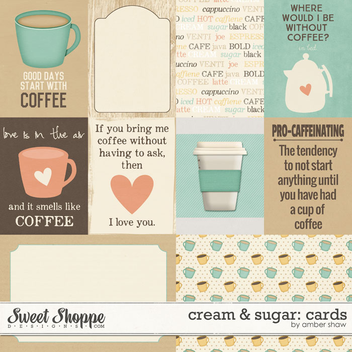 Cream & Sugar: Journal Cards by Amber Shaw