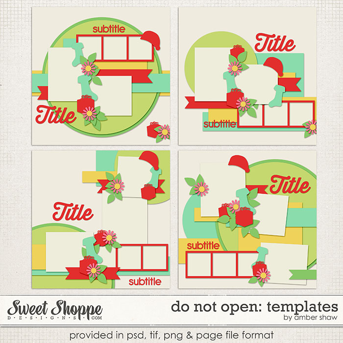 Do Not Open Page Templates by Amber Shaw