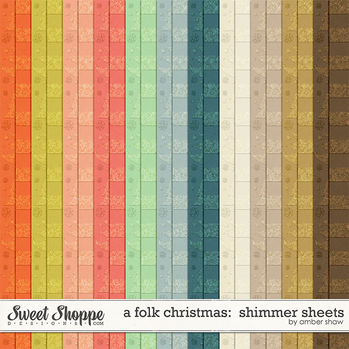 A Folk Christmas Shimmer Sheets by Amber Shaw