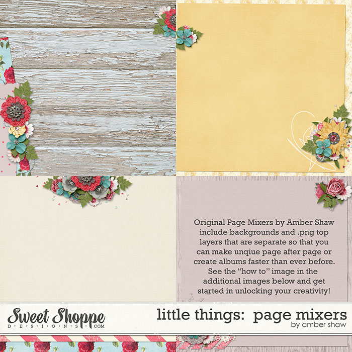 Little Things Page Mixers by Amber Shaw