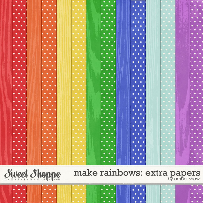 Make Rainbows Extra Papers by Amber Shaw