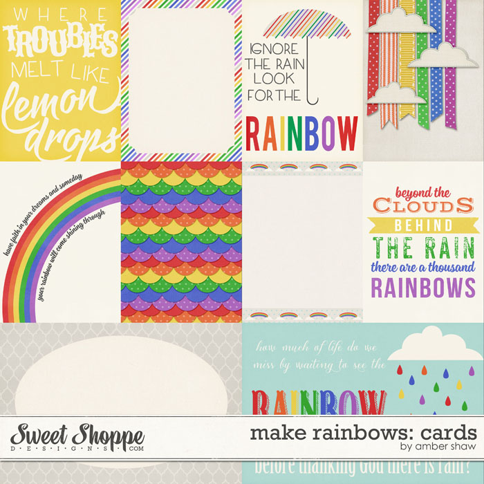 Make Rainbows Cards by Amber Shaw