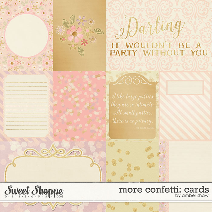 More Confetti:  Cards by Amber Shaw