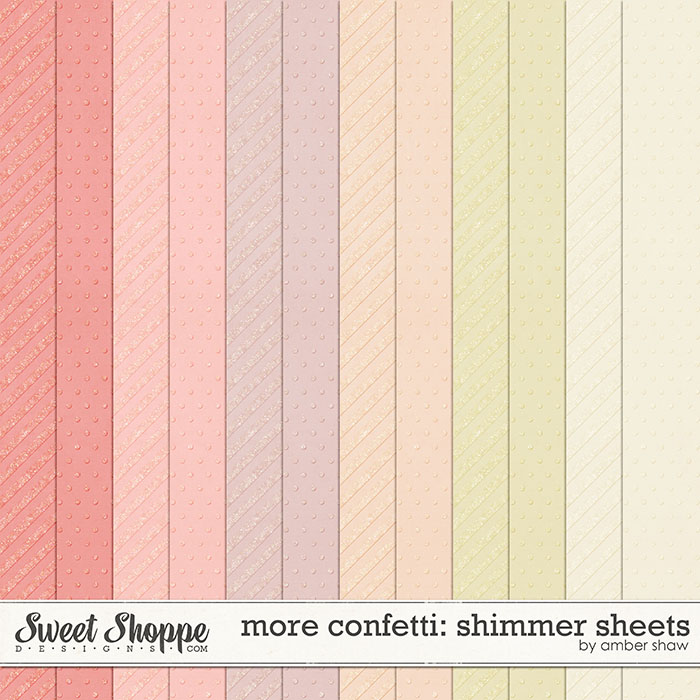 More Confetti: Shimmer Sheets by Amber Shaw