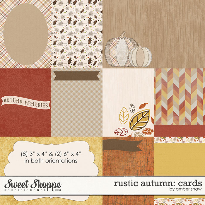 Rustic Autumn Cards by Amber Shaw