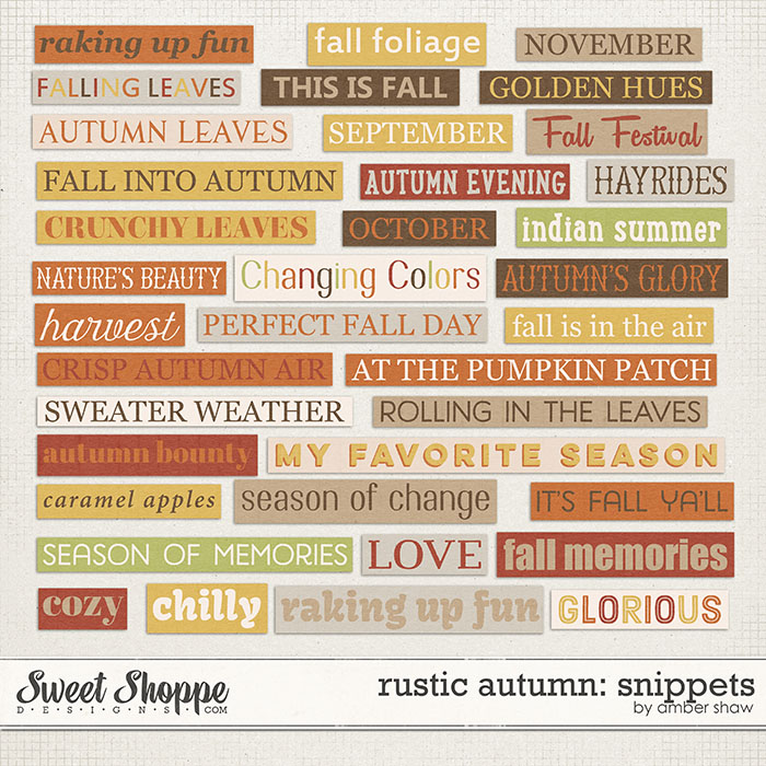 Rustic Autumn Snippets by Amber Shaw