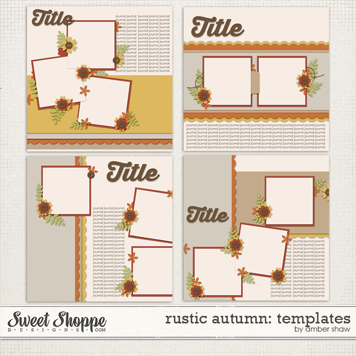 Rustic Autumn Templates by Amber Shaw