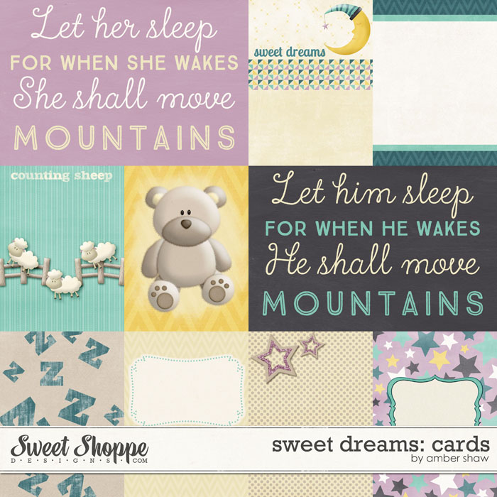 Sweet Dreams Journal Cards by Amber Shaw