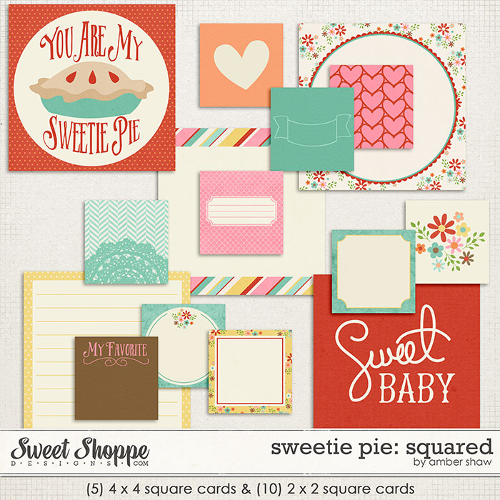 Sweetie Pie Squared Cards by Amber Shaw