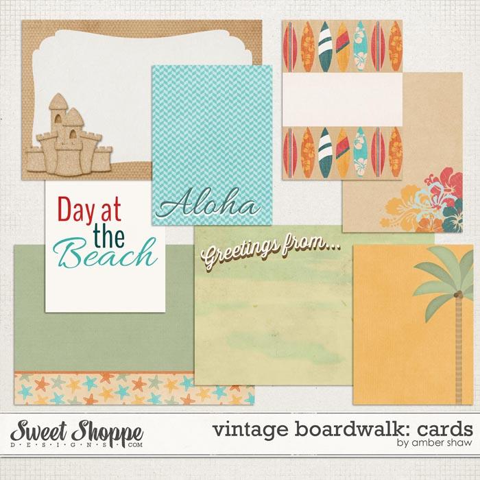 Vintage Boardwalk Cards by Amber Shaw