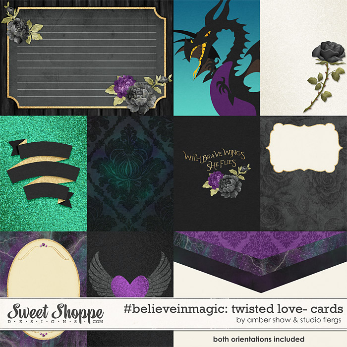 #believeinmagic:  Twisted Love Cards by Amber Shaw & Studio Flergs