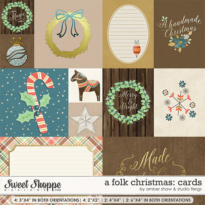 A Folk Christmas: CARDS By Studio Flergs & Amber Shaw